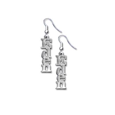 Sterling Silver Name Earrings - Name My Jewellery