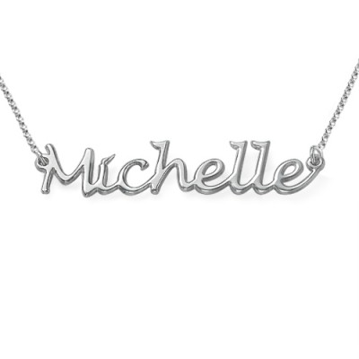 Silver Handwritten Name Necklace - Name My Jewellery