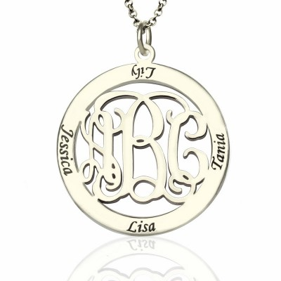 Personalised Family Monogram Name Necklace Sterling Silver - Name My Jewellery
