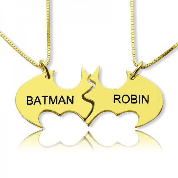 Personalised Puzzle Friend Name Necklace 18ct Gold Plated - Name My Jewellery