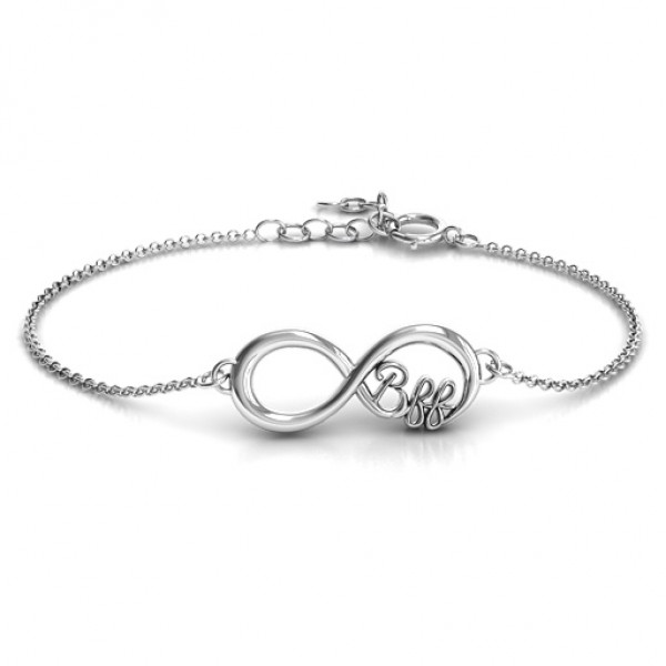 Personalised BFF Friendship Infinity Bracelet - Name My Jewellery