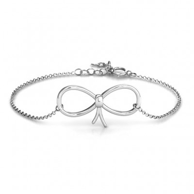 Personalised Classic Bow Bracelet - Name My Jewellery