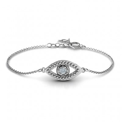 Personalised Evil Eye Bracelet - Name My Jewellery