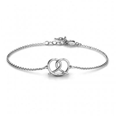 Personalised Love Knot Bracelet - Name My Jewellery