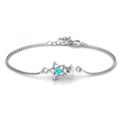 Personalised Me and My Shadow Star Bracelet - Name My Jewellery