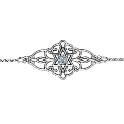 Personalised Vintage Star of David Bracelet - Name My Jewellery
