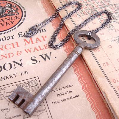 Skeleton Key Necklace Antique Vintage - Name My Jewellery
