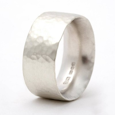 Chunky Hammered Ring - Name My Jewellery