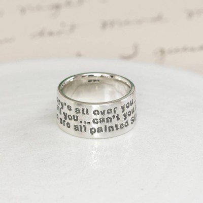 Personalised Sterling Silver Message Ring - Name My Jewellery