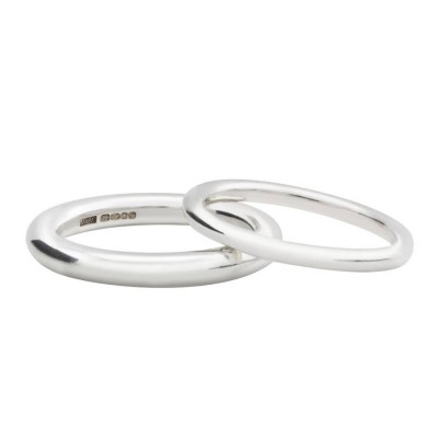 Sterling Silver Halo Wedding Band - Name My Jewellery