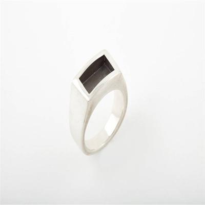Men Gentlemen Ring Black - Name My Jewellery