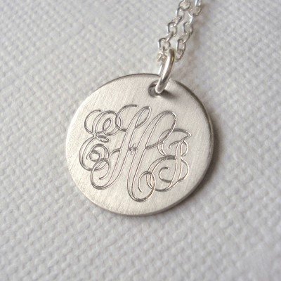 Mens Classic Sterling Silver Monogram Necklace - Name My Jewellery