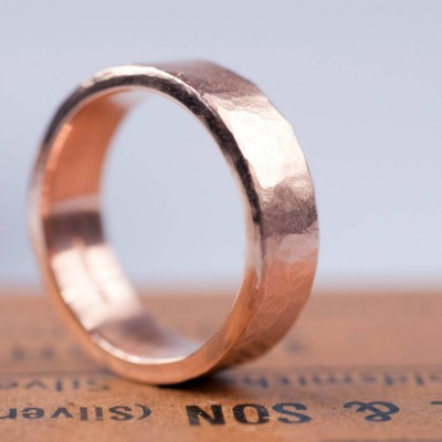 Organic 18ct Gold Mens Ring - Name My Jewellery