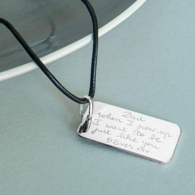 Mens Personalised Dog Tag Necklace - Name My Jewellery