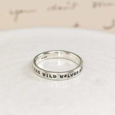 Personalised Silver Message Ring - Name My Jewellery