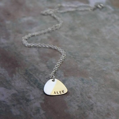 Personalised Plectrum Necklace - Name My Jewellery