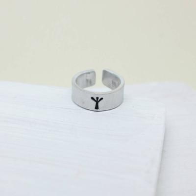 Personalised Viking Rune Initial Talisman Ring - Name My Jewellery