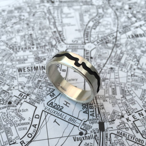 River Thames Cutout Ring - Name My Jewellery
