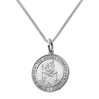 St Christopher Chunky Round Necklace - Name My Jewellery