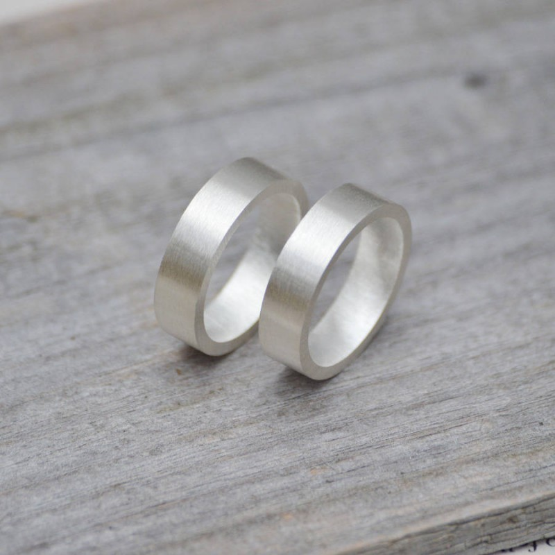 Personalised Wedding Band In Sterling Silver Name My Jewellery