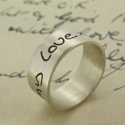 Your Own Handwriting Personalised Ring - Name My Jewellery